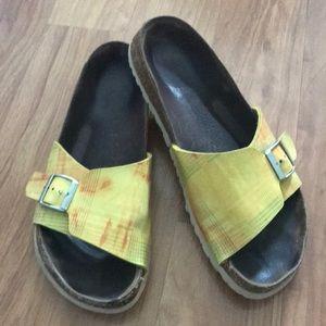 Birkenstock Birki's Slip ons Sandals buckle. Sz 10